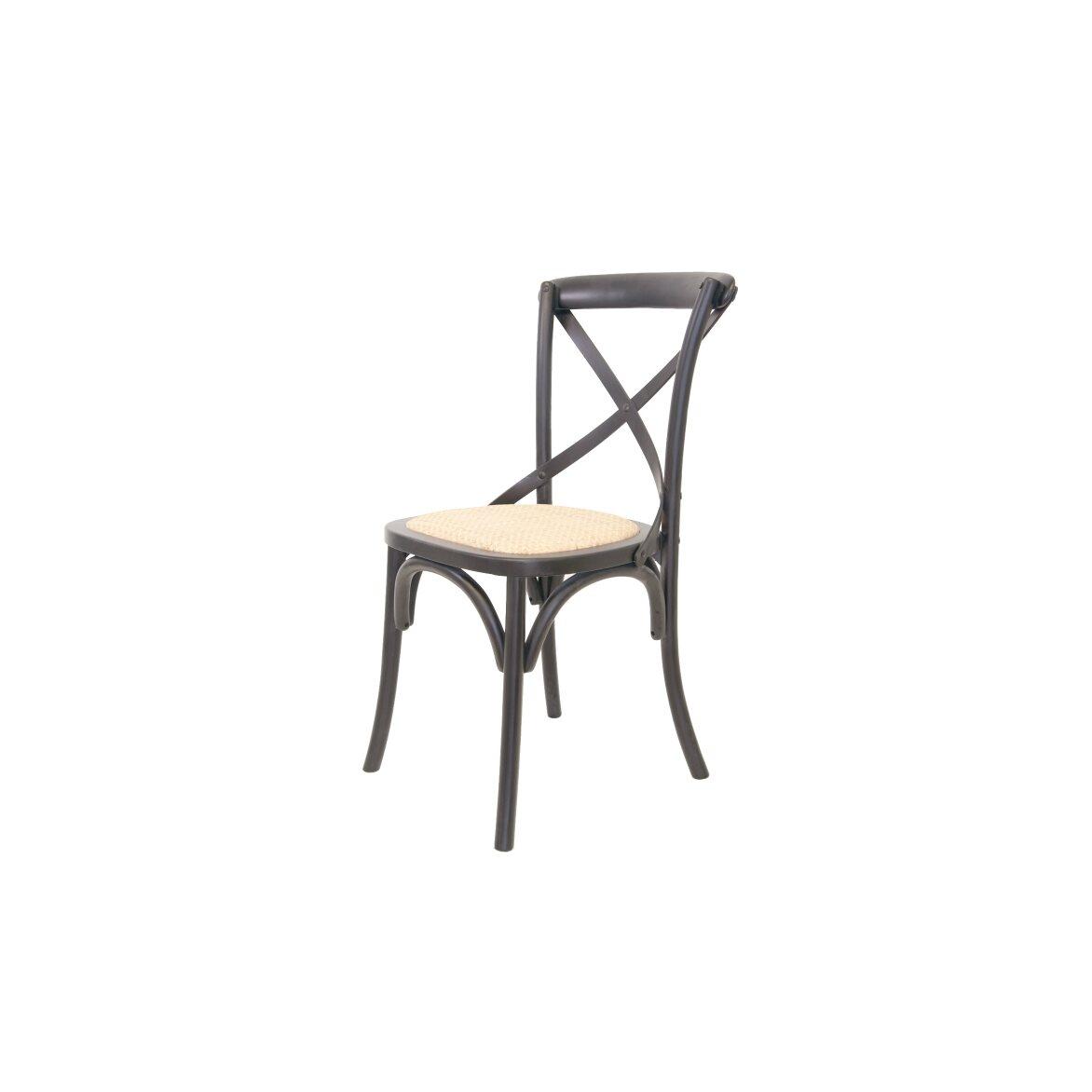 Стул Cross back black 4 | Обеденные стулья Kingsby