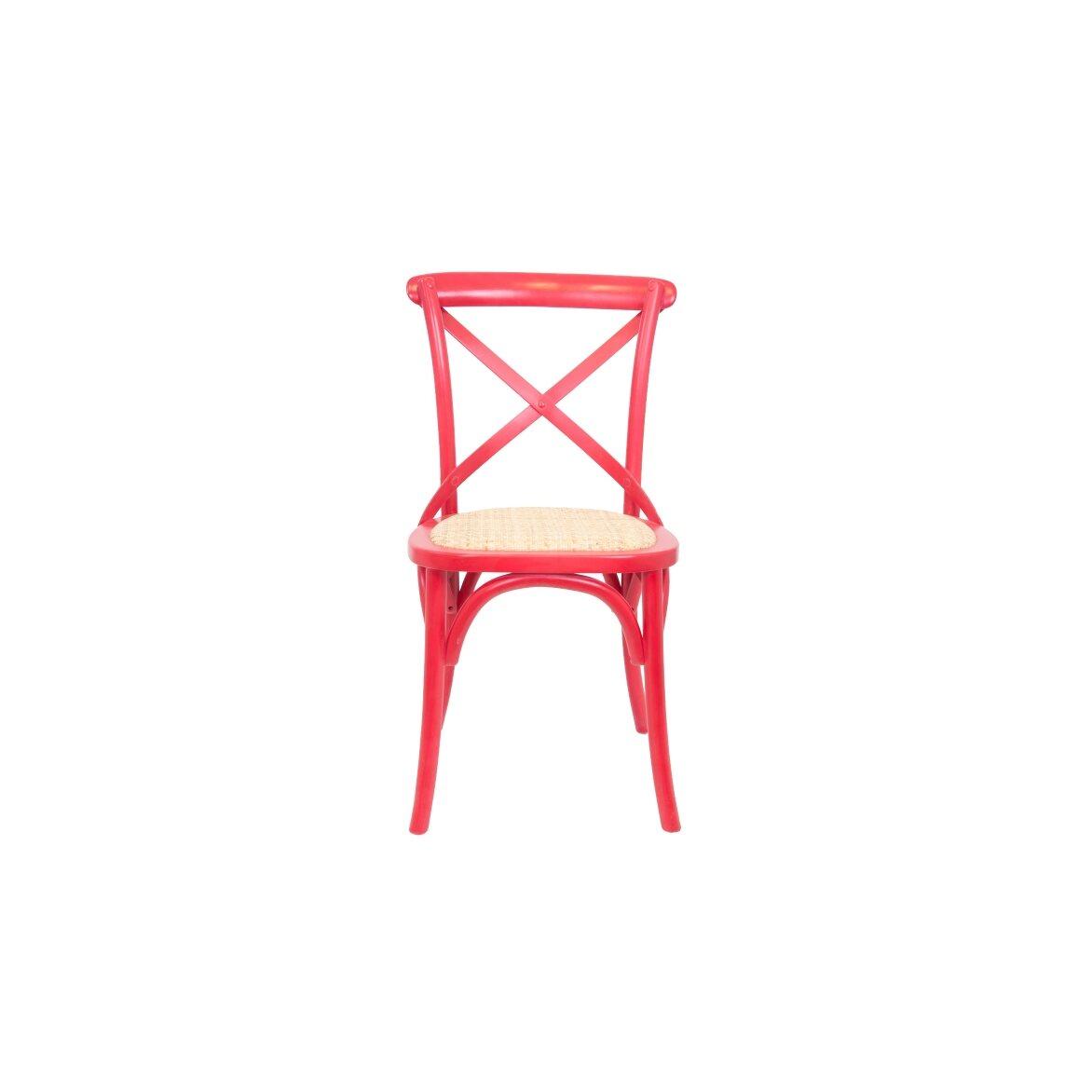 Стул Cross back red   Обеденные стулья Kingsby