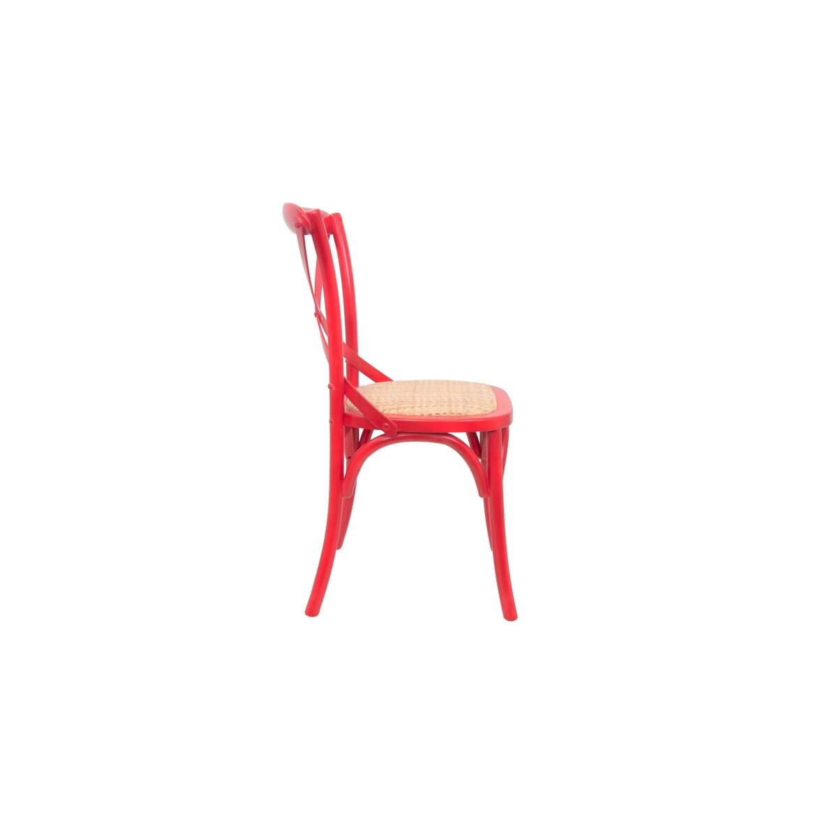 Стул Cross back red 2   Обеденные стулья Kingsby