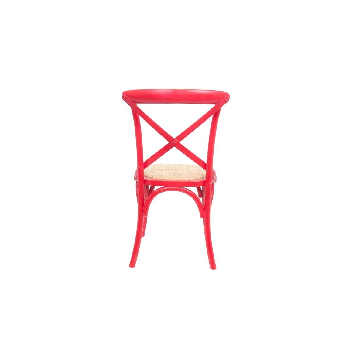 Стул Cross back red 4   Обеденные стулья Kingsby