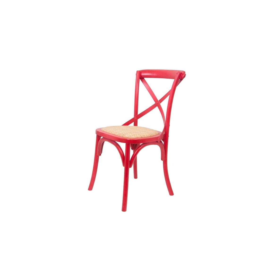 Стул Cross back red 3   Обеденные стулья Kingsby