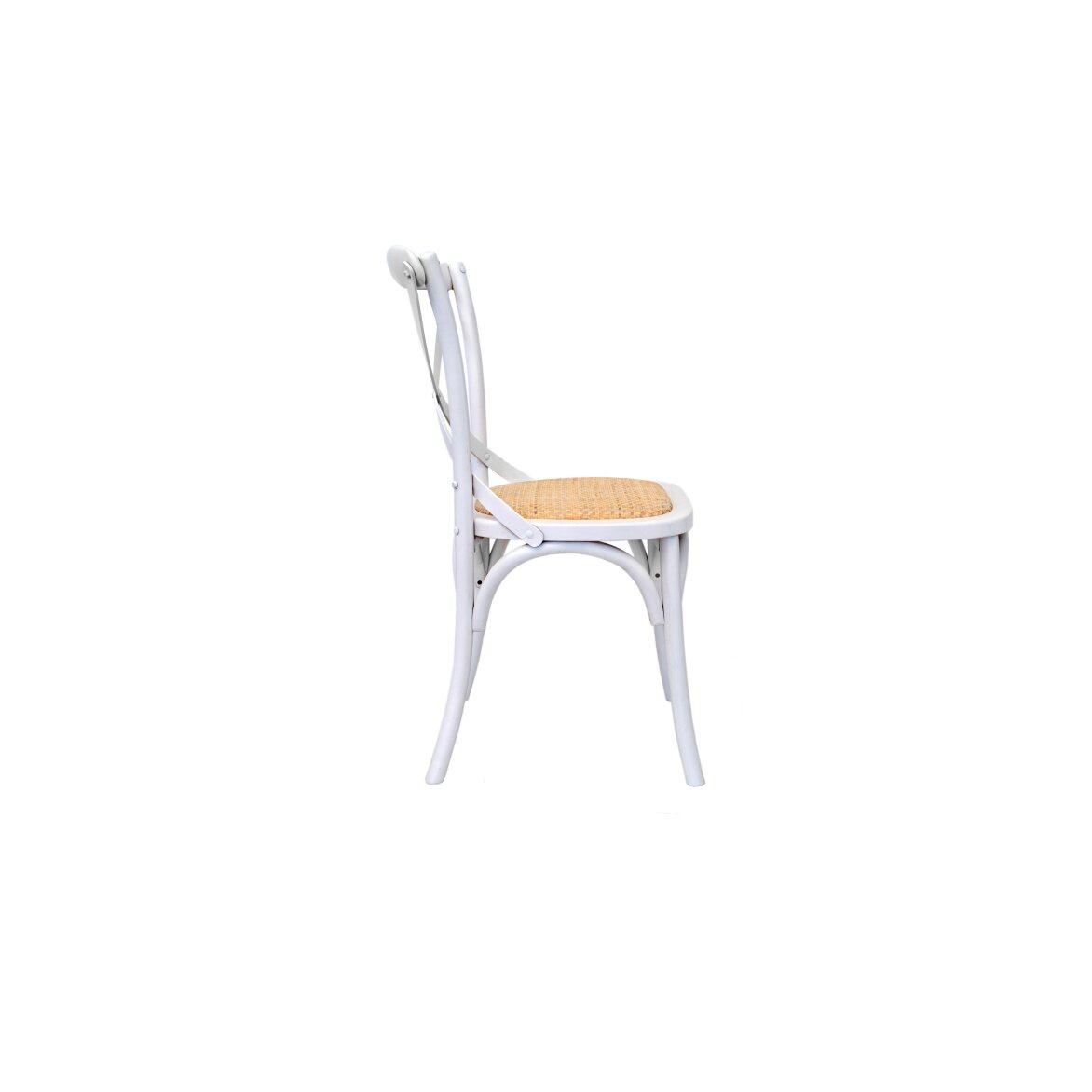Стул Cross back white 2 | Обеденные стулья Kingsby