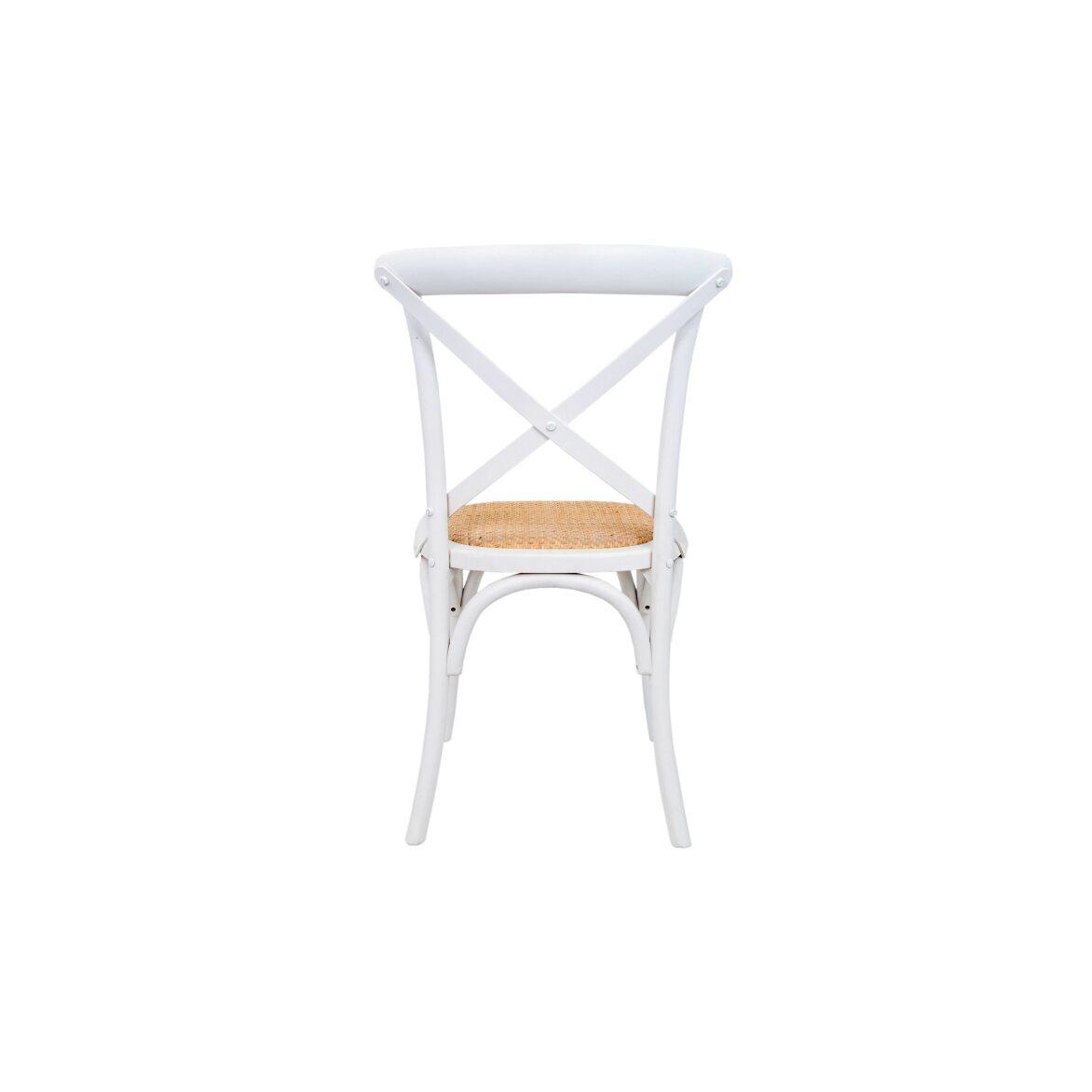 Стул Cross back white 3 | Обеденные стулья Kingsby