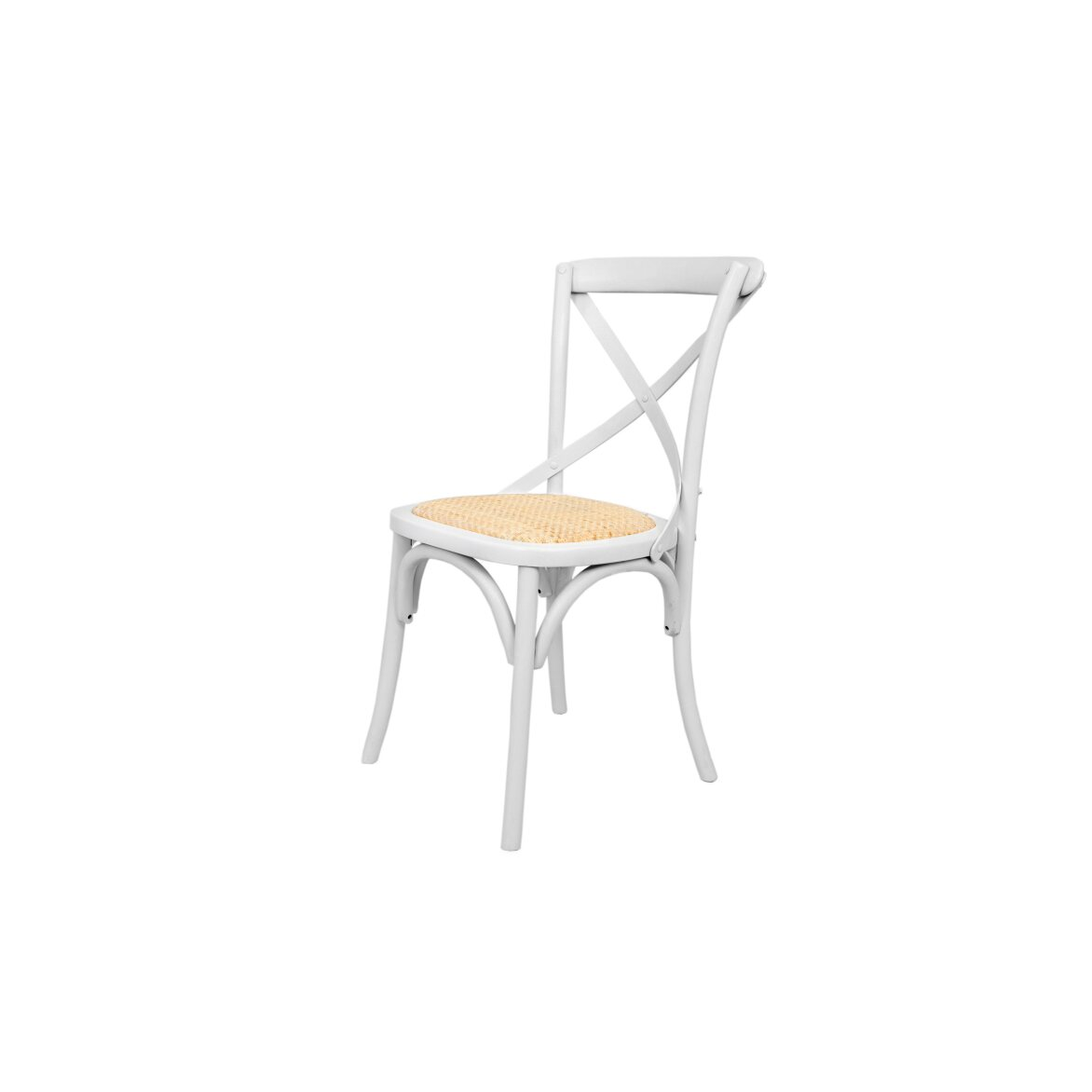 Стул Cross back white 4 | Обеденные стулья Kingsby