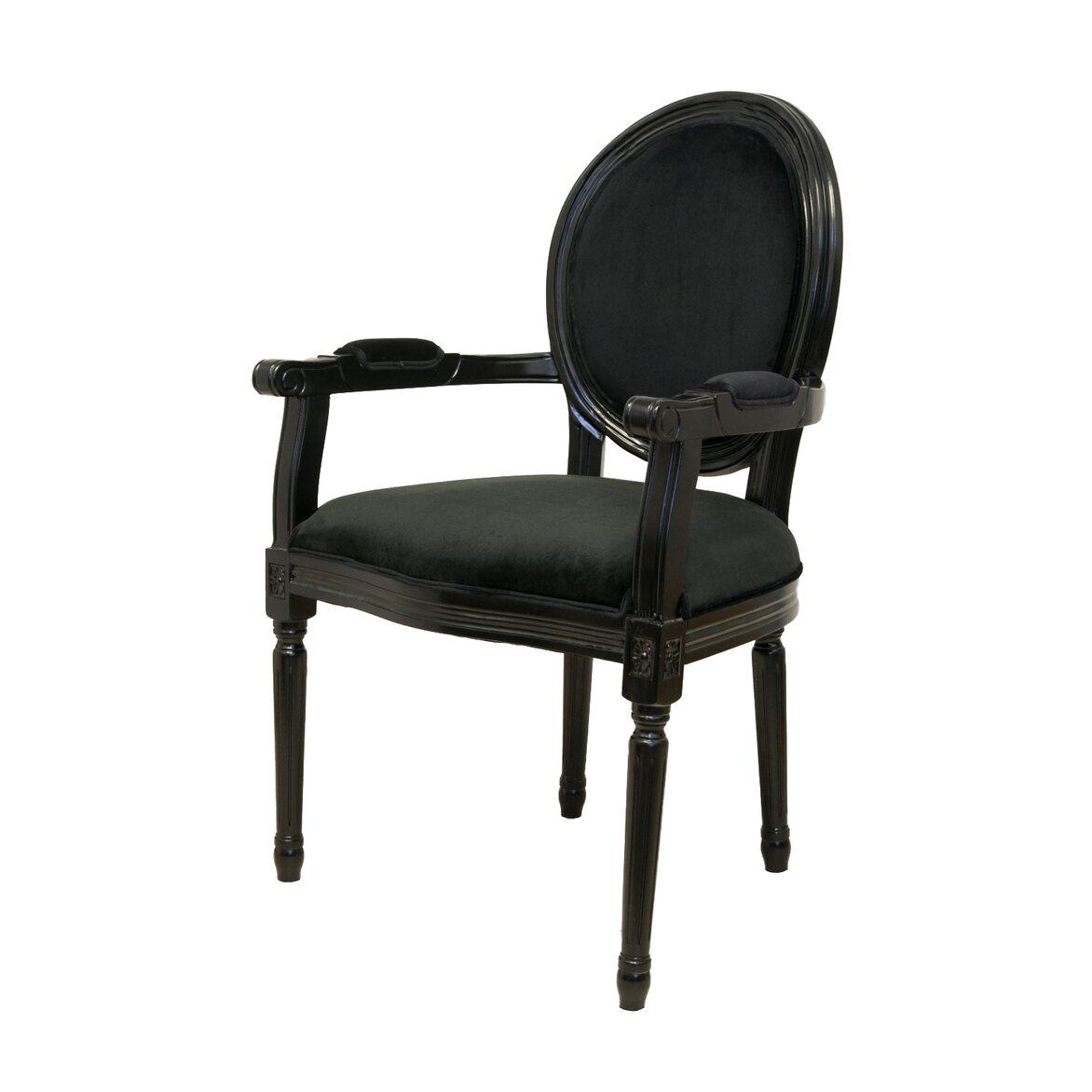 Стул Diella black velvet 4 | Обеденные стулья Kingsby