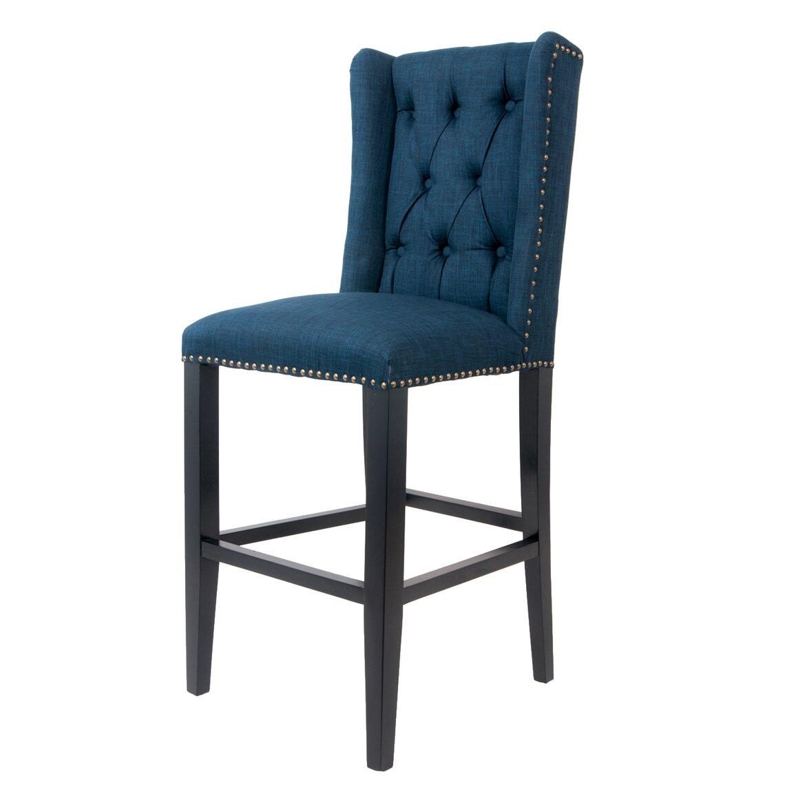 Стул Skipton blue 4   Барные стулья Kingsby