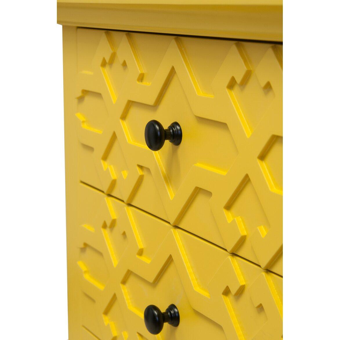 Тумба Friz Yellow 4 | Прикроватные тумбы Kingsby