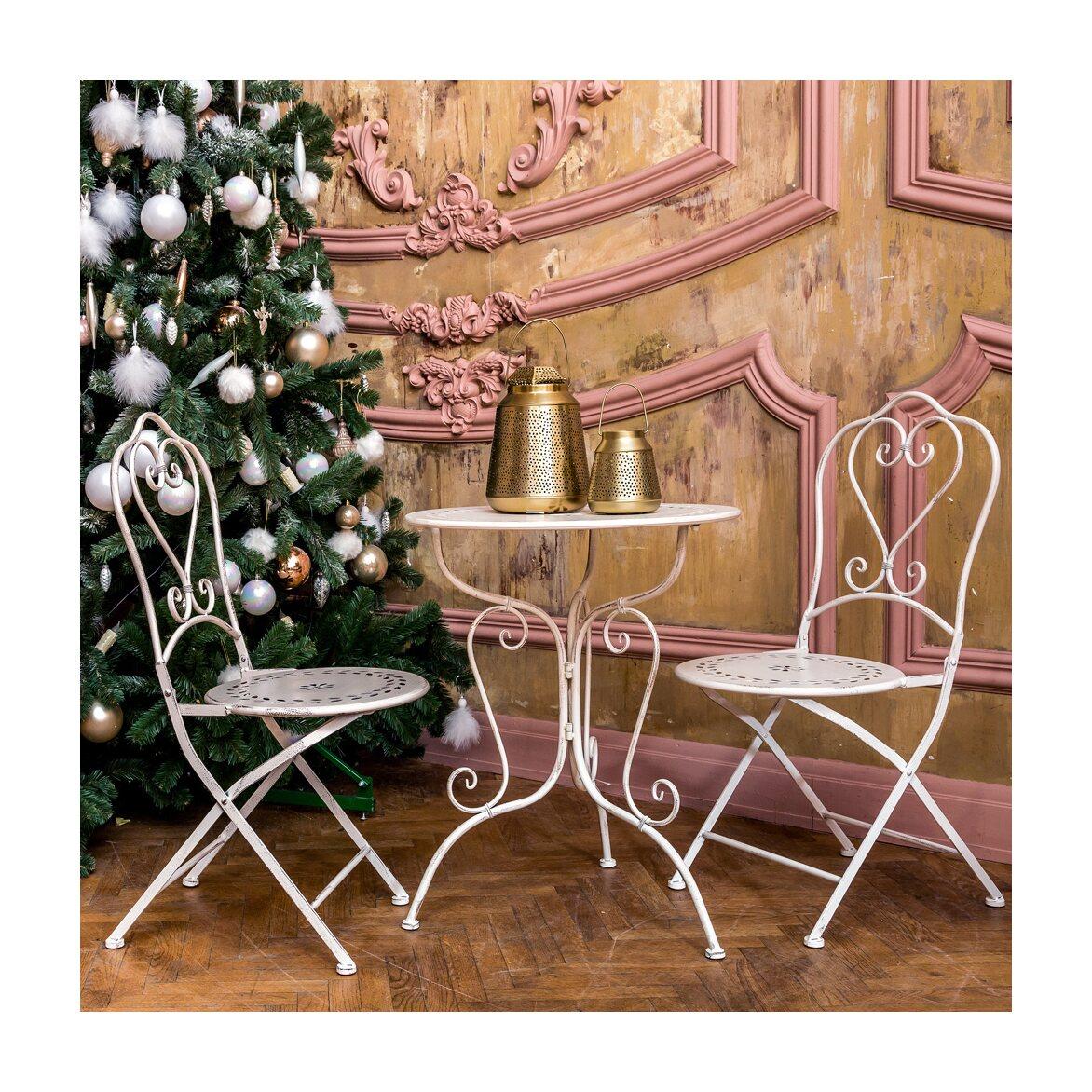 Столик для завтрака «Жарден» (белый антик) 2   Кофейные столики Kingsby