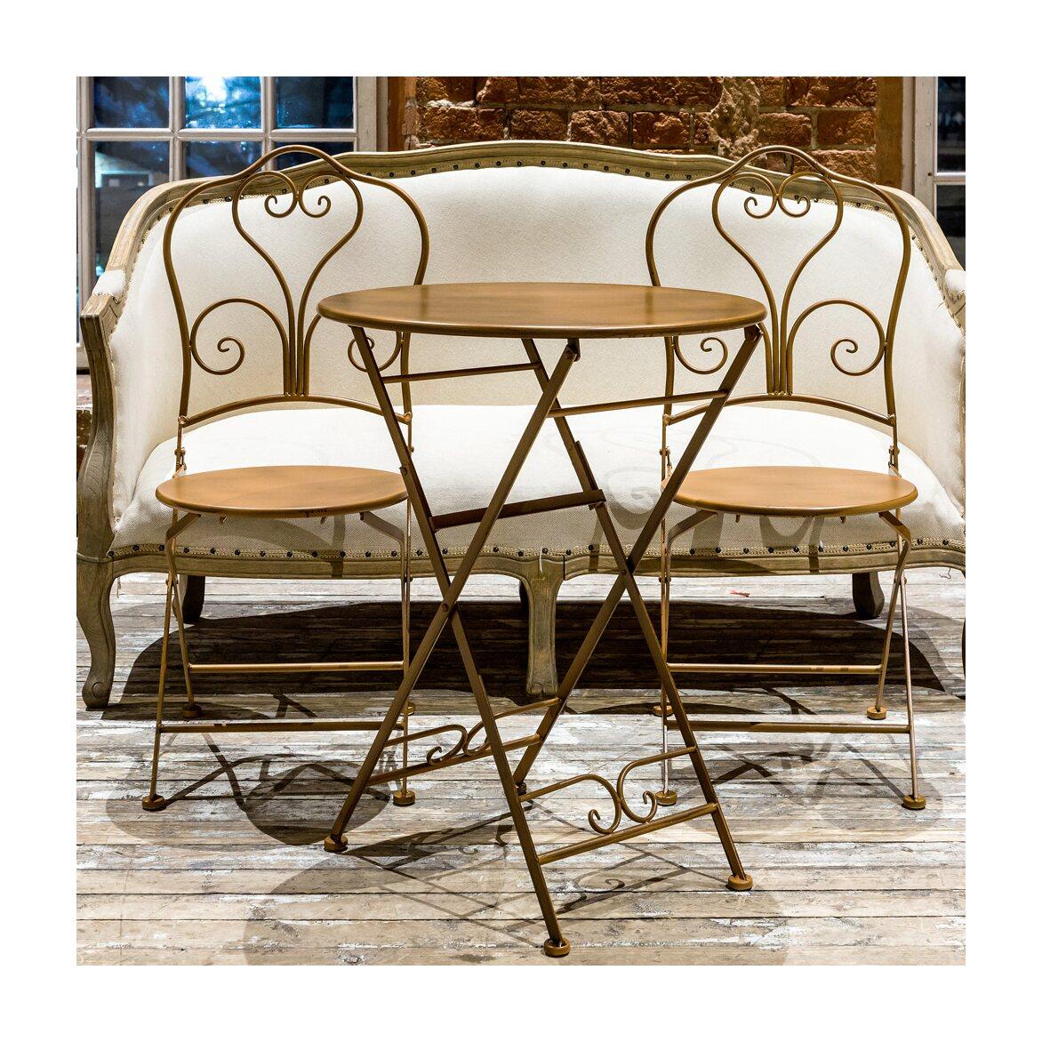 Складной столик для завтрака «Жарден» (карамель) 2   Кофейные столики Kingsby