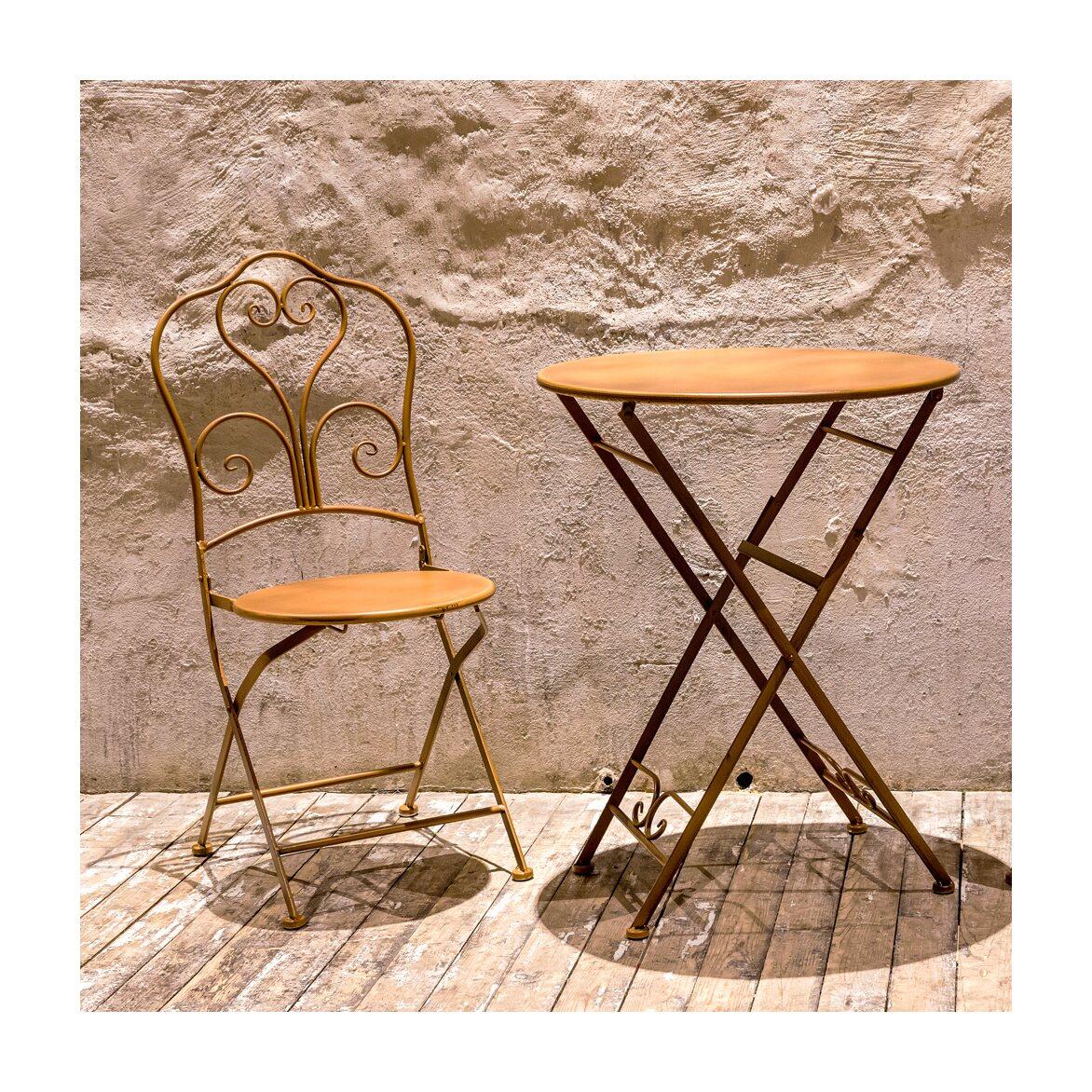 Складной столик для завтрака «Жарден» (карамель) 3   Кофейные столики Kingsby