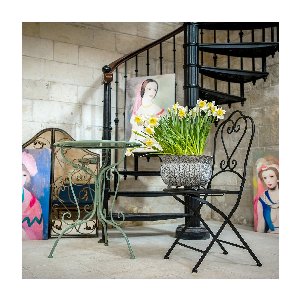 Столик для завтрака «Жарден» (мята) 4 | Кофейные столики Kingsby