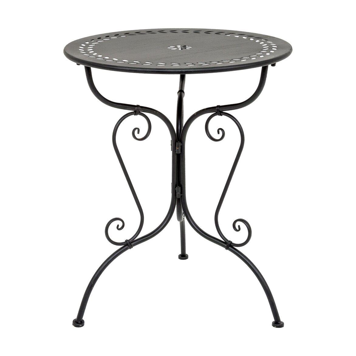 Столик для завтрака «Жарден» (черный антик) | Кофейные столики Kingsby