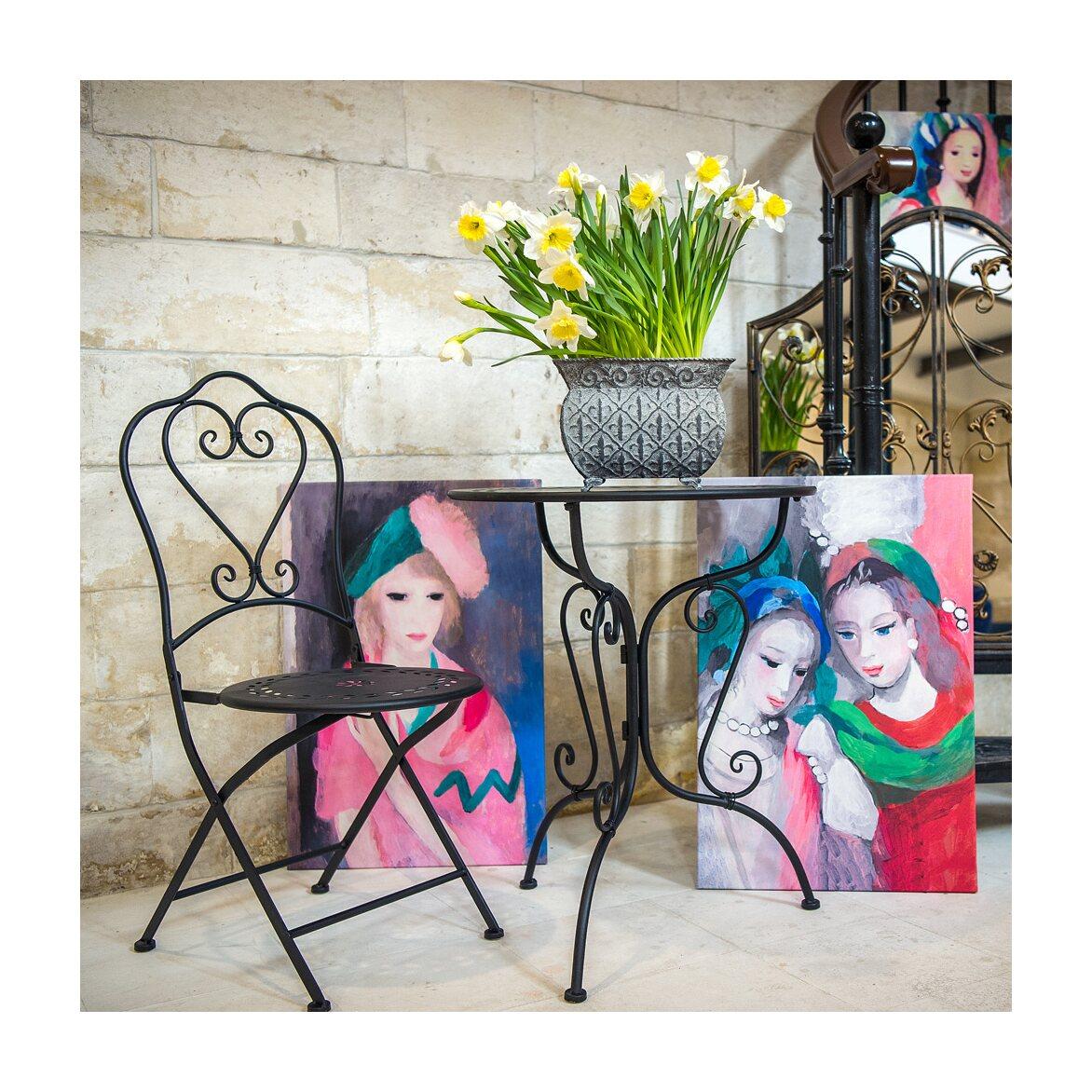 Столик для завтрака «Жарден» (черный антик) 4 | Кофейные столики Kingsby