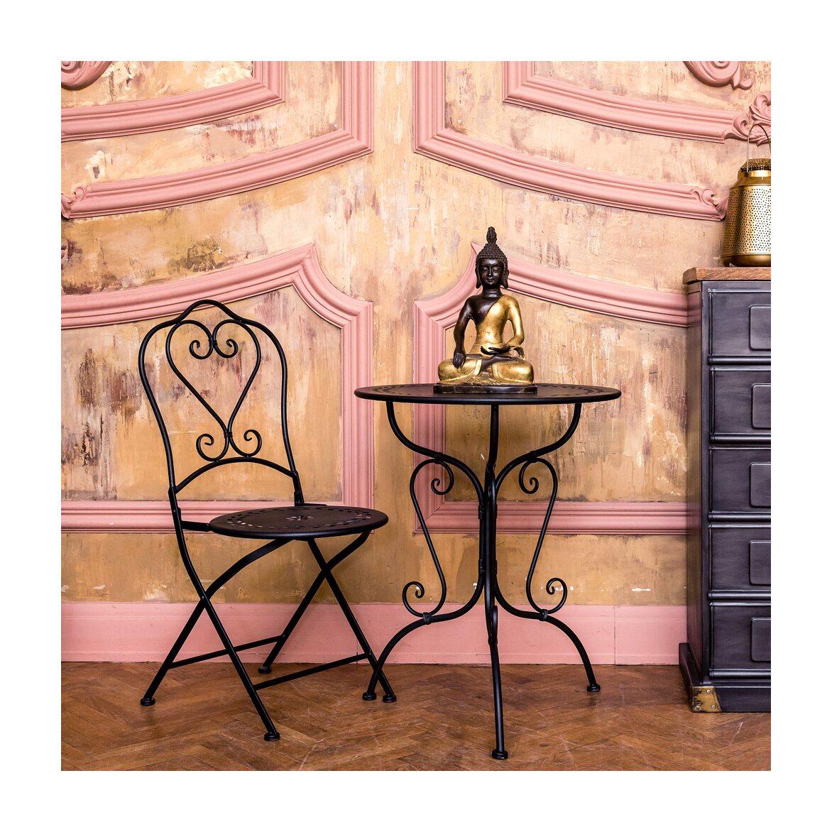 Столик для завтрака «Жарден» (черный антик) 3 | Кофейные столики Kingsby