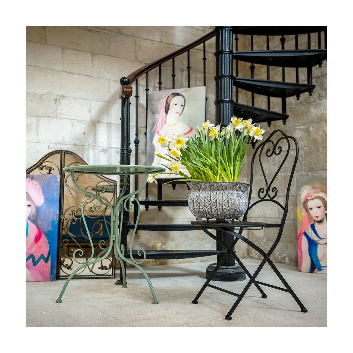Складной стул «Жарден» (черный антик) 3 | Обеденные стулья Kingsby