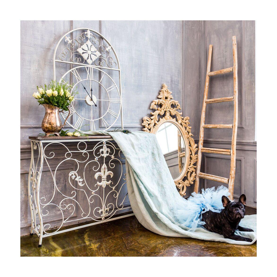 Консоль «Королевская лилия» (белый антик, версия М) 6   Консоли Kingsby