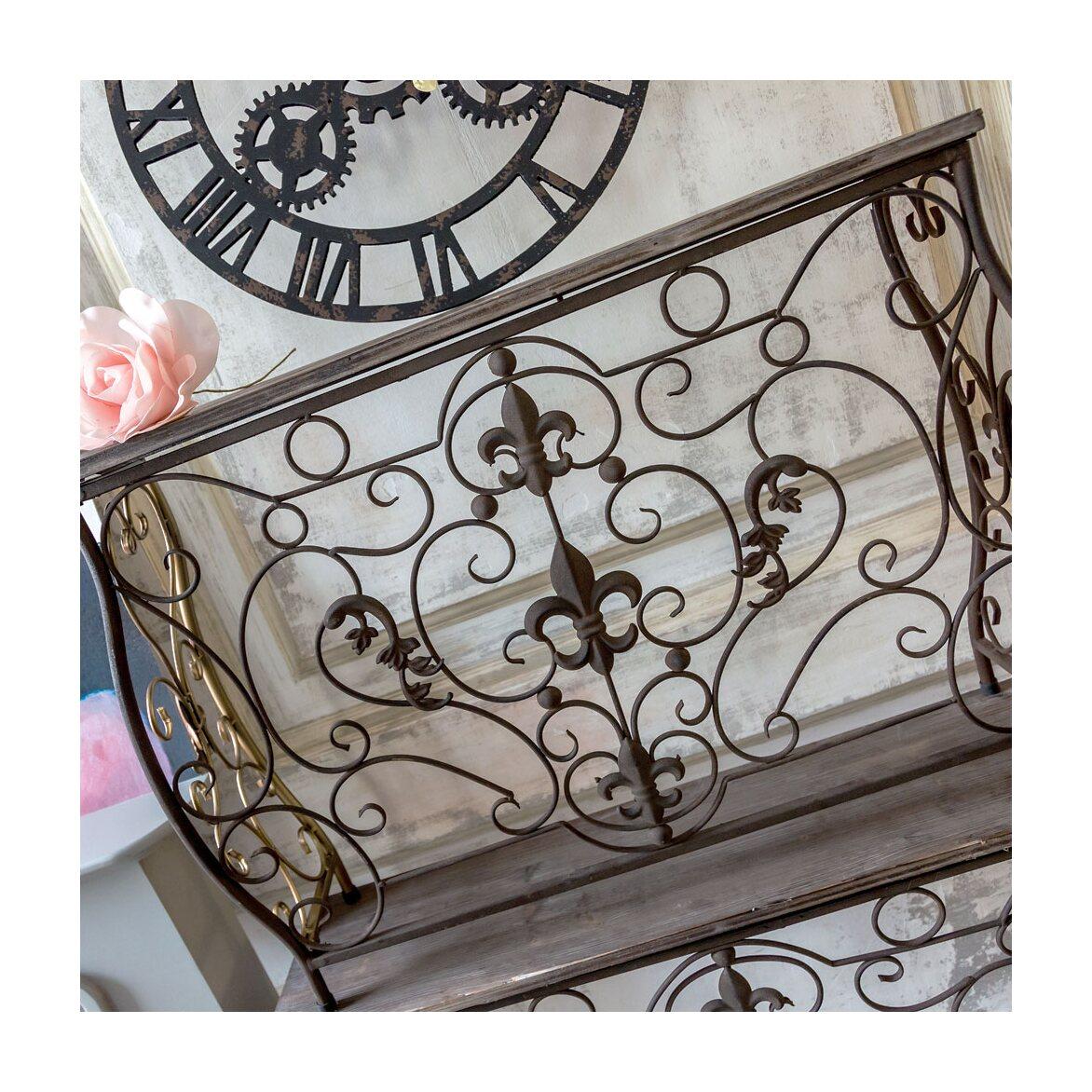 Консоль «Королевская лилия» (шоколадный антик, версия М) 3 | Консоли Kingsby