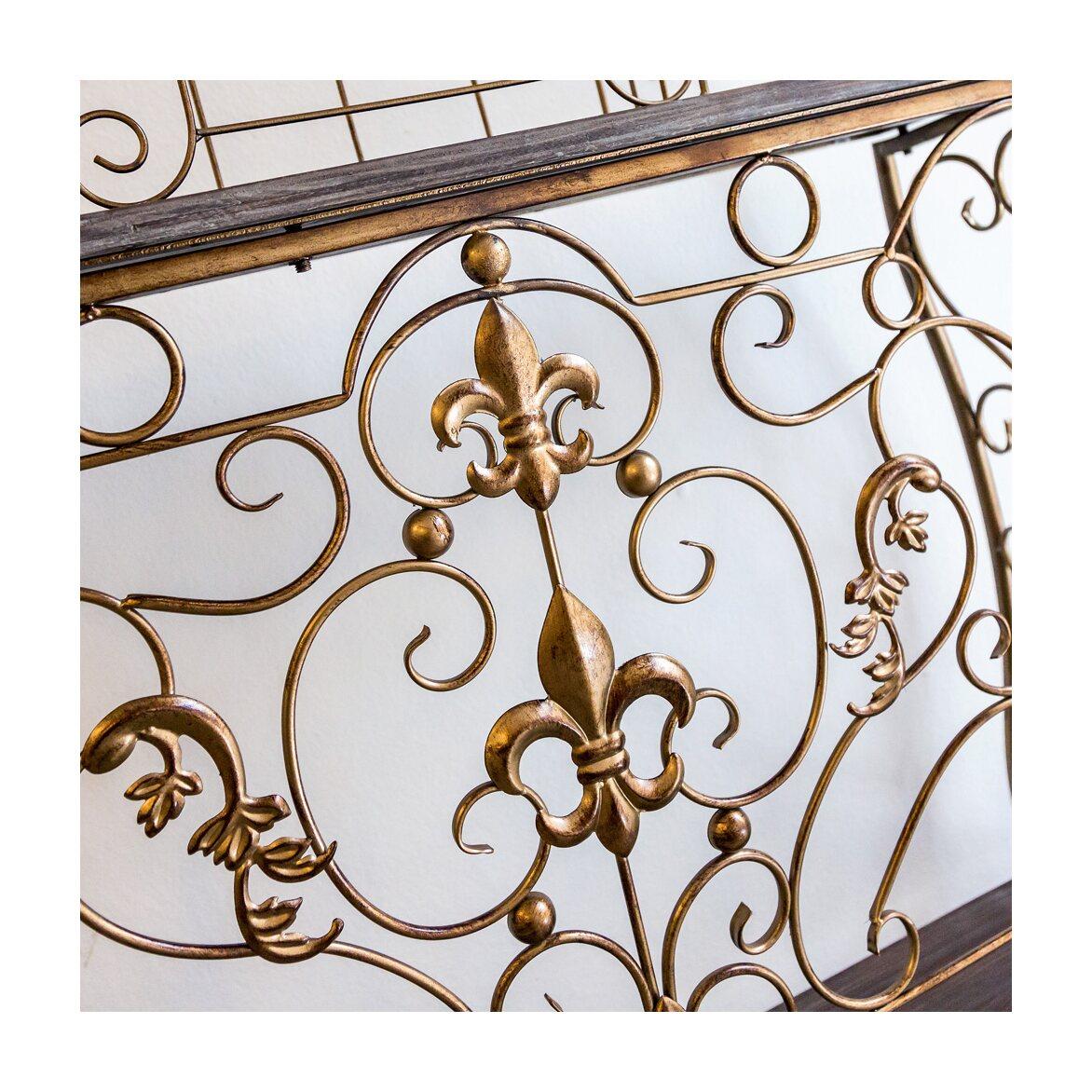 Консоль «Королевская лилия» (бронзовый антик, версия М) 6 | Консоли Kingsby