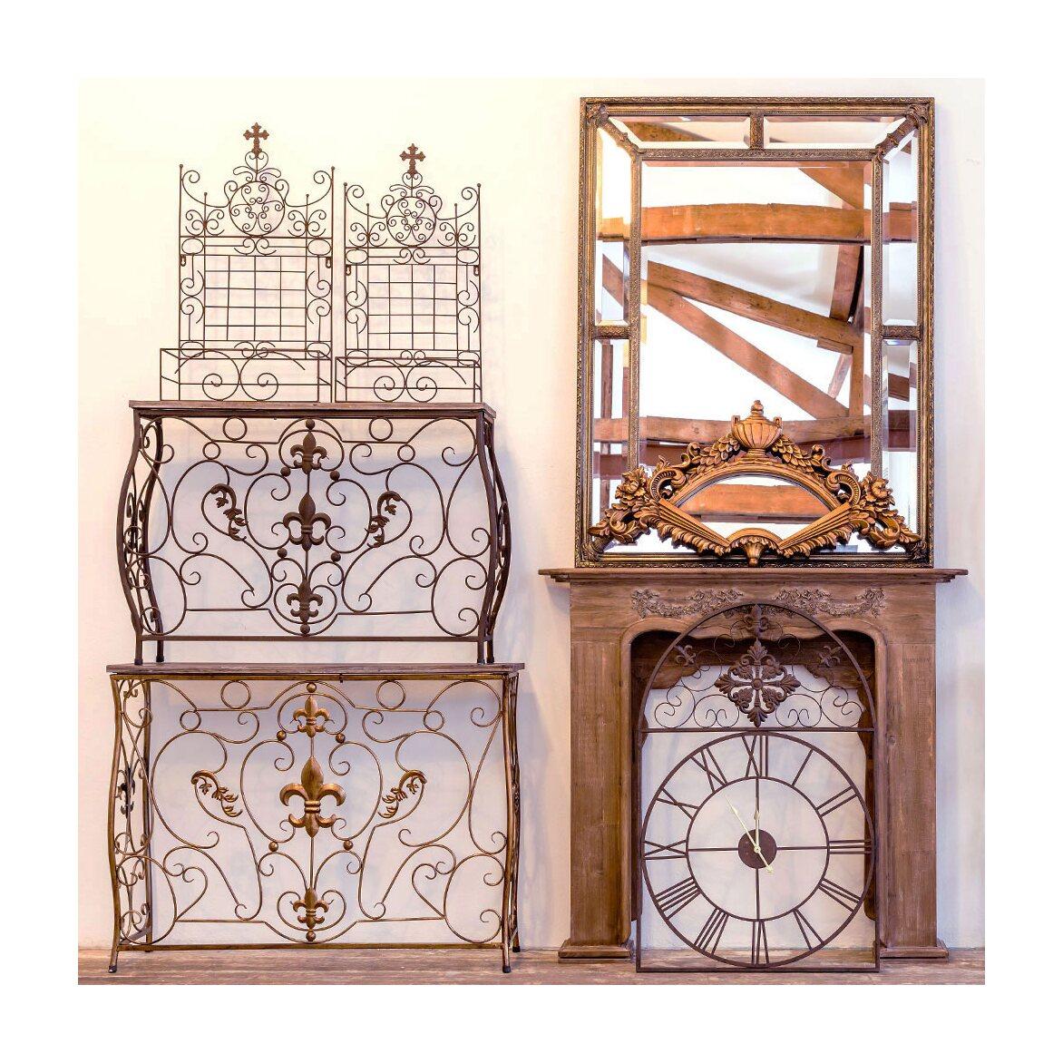 Консоль «Королевская лилия» (бронзовый антик, версия L) 4 | Консоли Kingsby