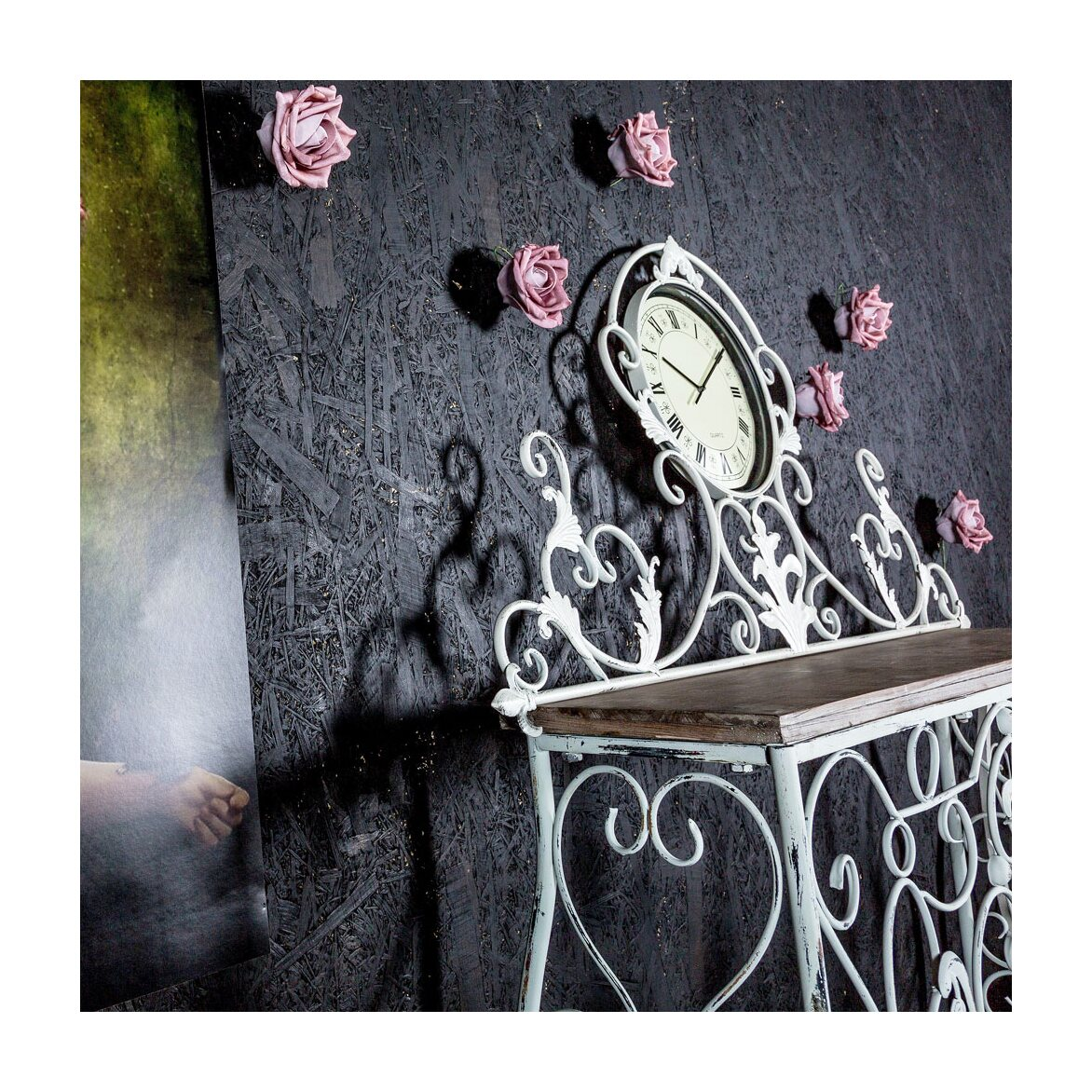 Консоль «Королевская лилия» (лайт-аква антик, версия М) 5   Консоли Kingsby