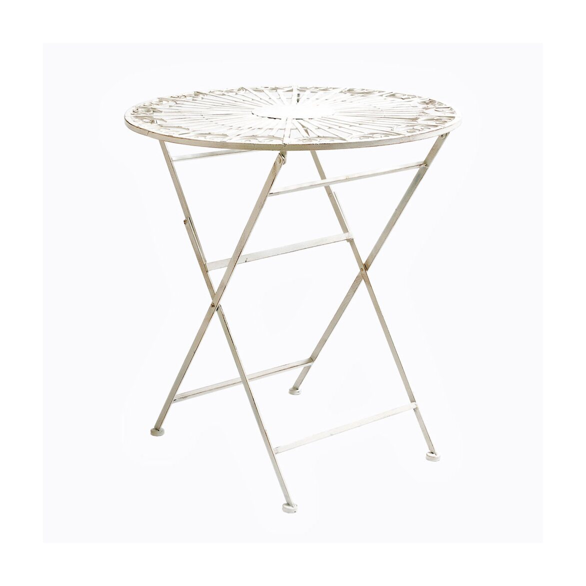 Складной столик для завтрака «Тюильри» (белый антик) 2 | Кофейные столики Kingsby