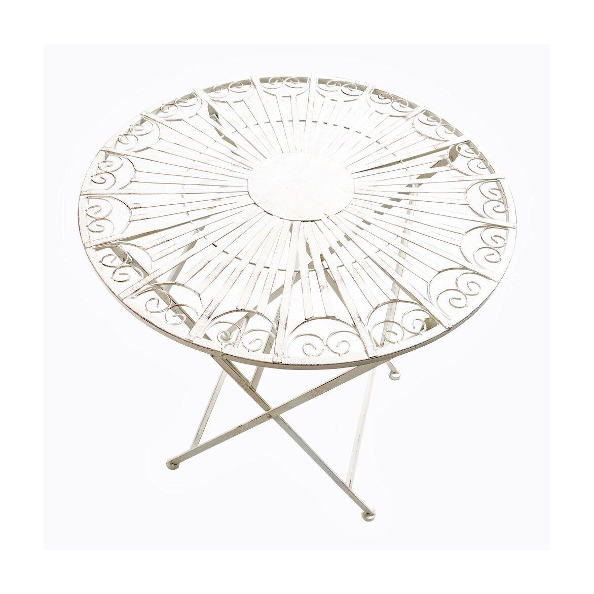 Складной столик для завтрака «Тюильри» (белый антик) | Кофейные столики Kingsby