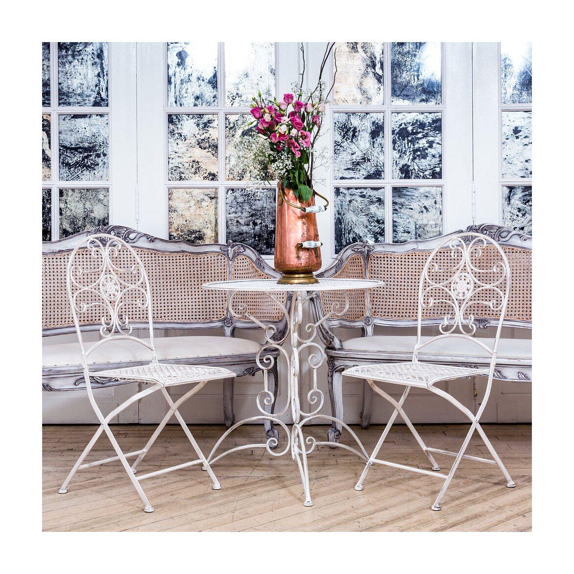 Складной стул «Берси» (белый антик) 2 | Обеденные стулья Kingsby