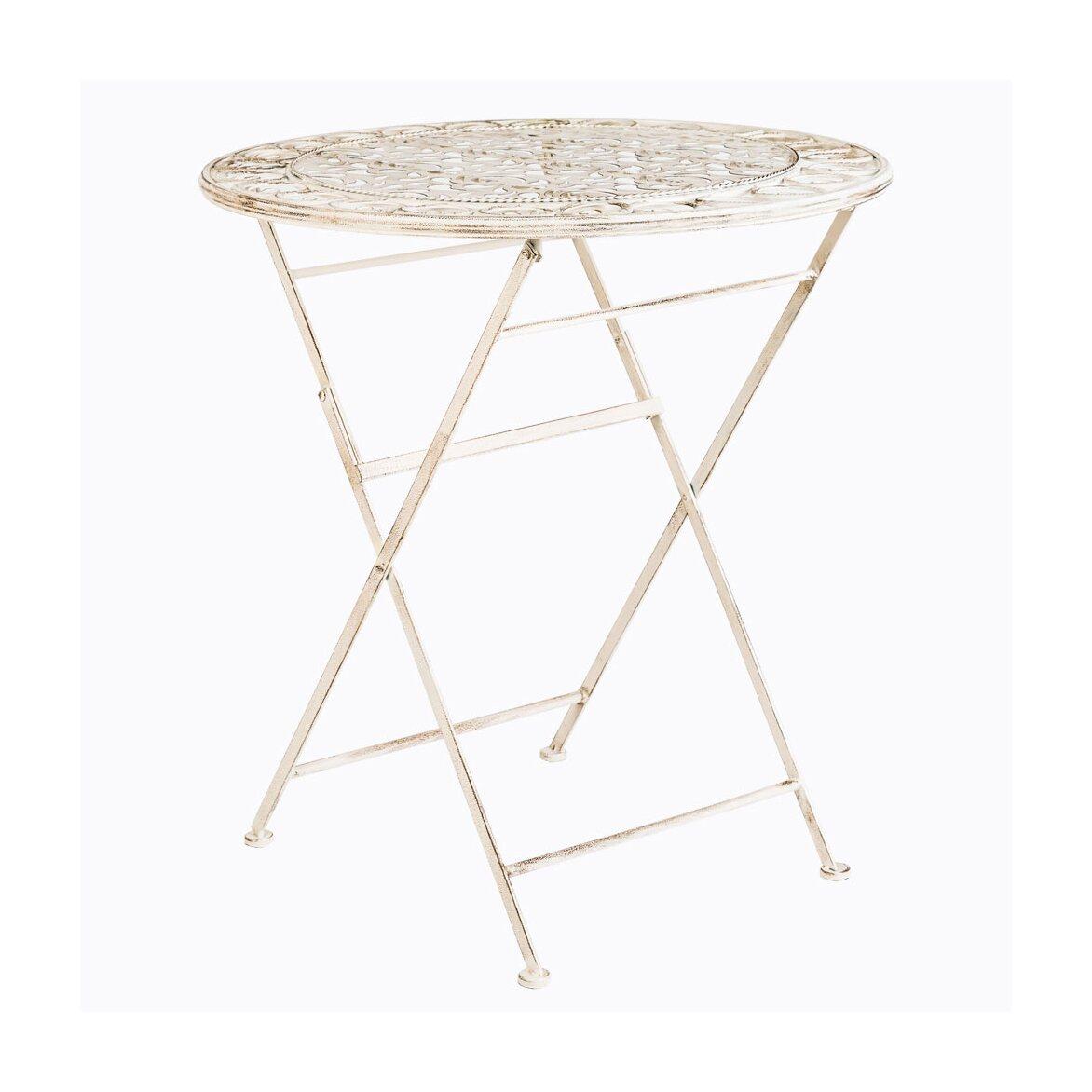 Складной столик для завтрака «Риволи» (белый антик) | Кофейные столики Kingsby