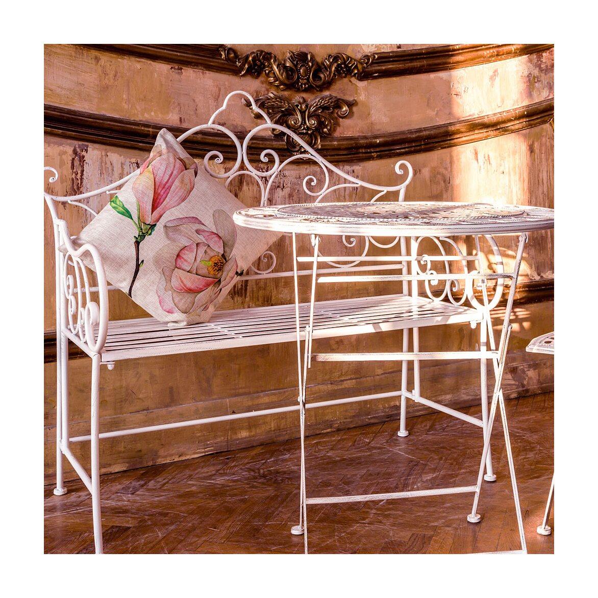 Складной столик для завтрака «Риволи» (белый антик) 2 | Кофейные столики Kingsby