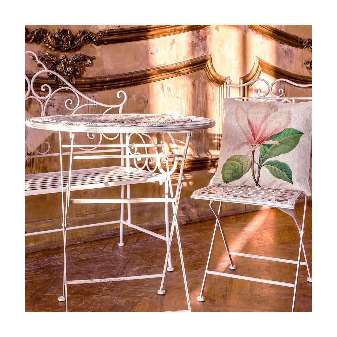 Складной столик для завтрака «Риволи» (белый антик) 3 | Кофейные столики Kingsby
