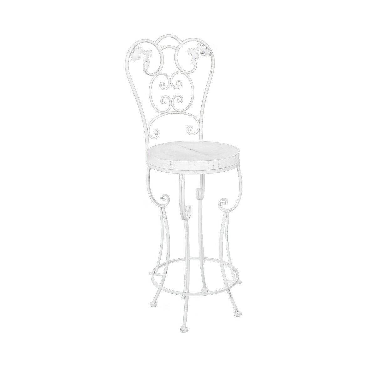 Барный стул «Болеро» (белый антик) 3 | Барные стулья Kingsby