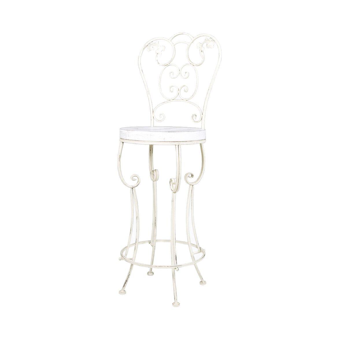 Барный стул «Болеро» (белый антик) | Барные стулья Kingsby