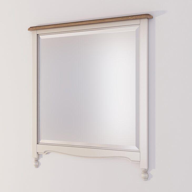 Зеркало прямоугольное Leblanc, бежевое | Настенные зеркала Kingsby