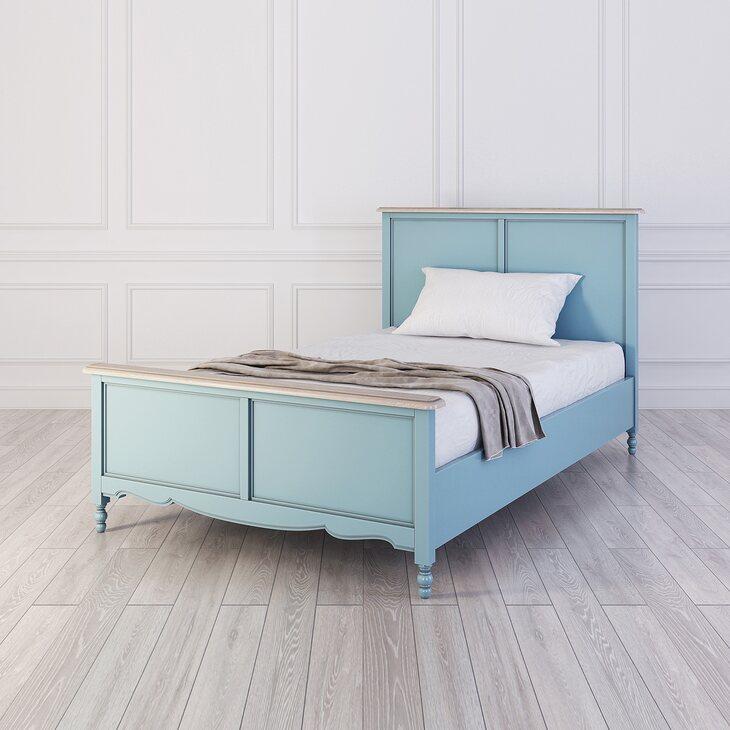 Кровать односпальная 120*200 Leblanc, голубая | Односпальные кровати Kingsby