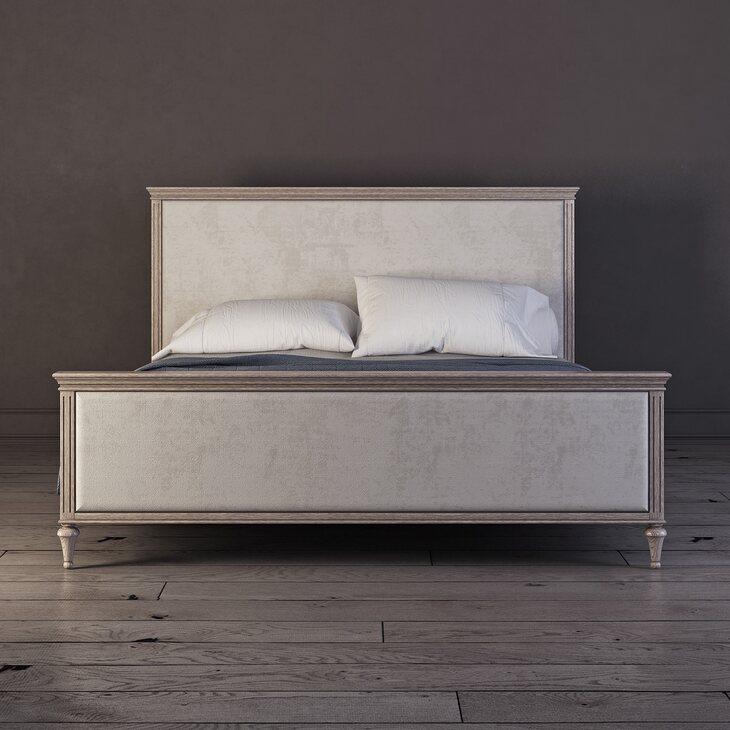 Кровать Riverdi светлый дуб RBD, с изножьем | Двуспальные кровати Kingsby