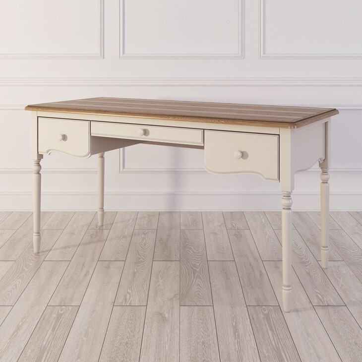 Письменный стол с 3-я ящиками Leblanc, бежевый | Письменные столы Kingsby