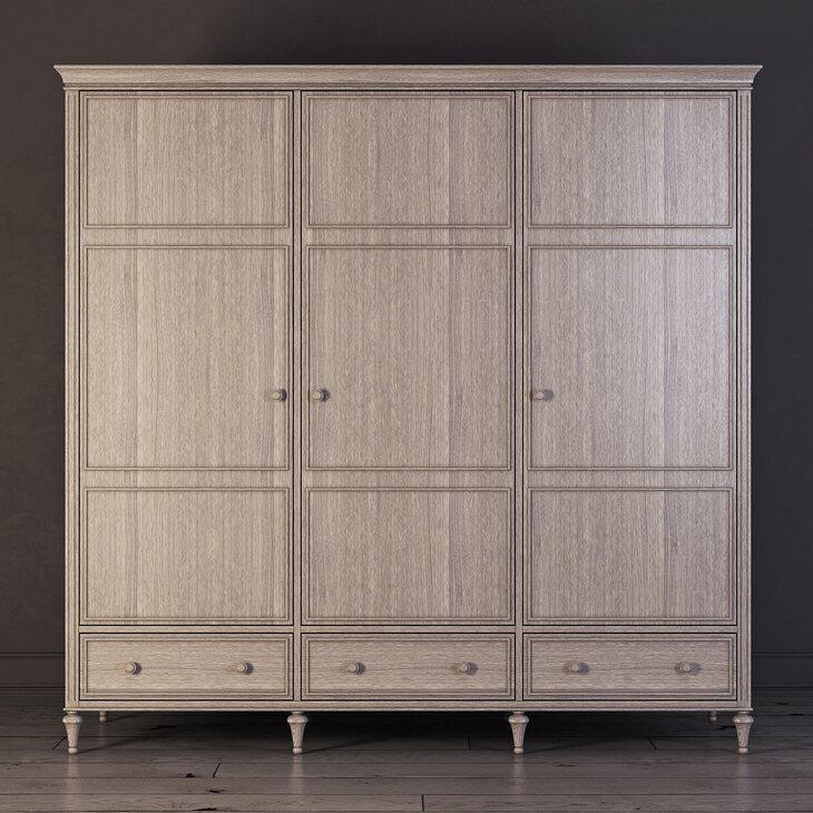 Шкаф трехстворчатый Riverdi, светлый дуб | Платяные шкафы Kingsby