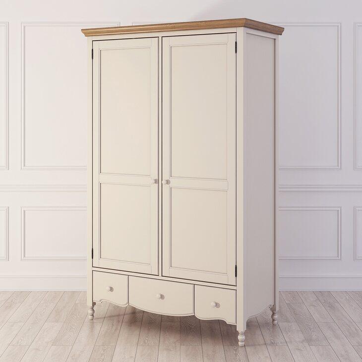 Шкаф двухстворчатый Leblanc, бежевый | Платяные шкафы Kingsby