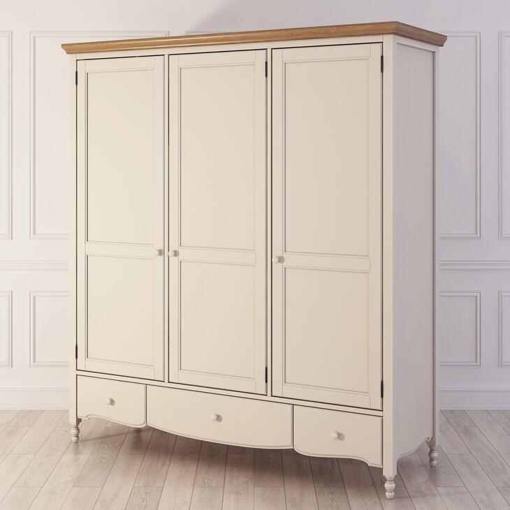 Шкаф трехстворчатый Leblanc, бежевый | Платяные шкафы Kingsby