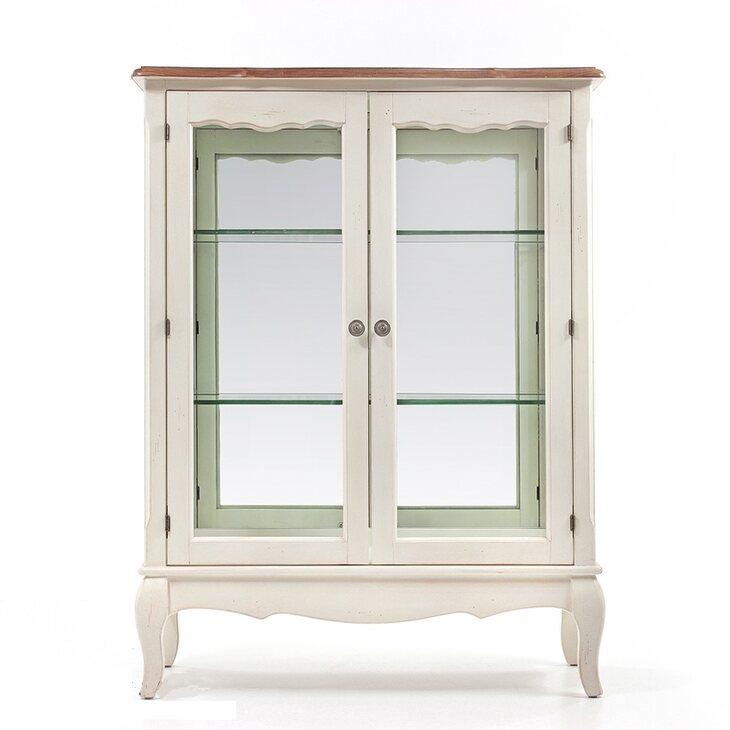 Стеклянная витрина (двойная) Leontina, бежевого цвета | Витрины Kingsby