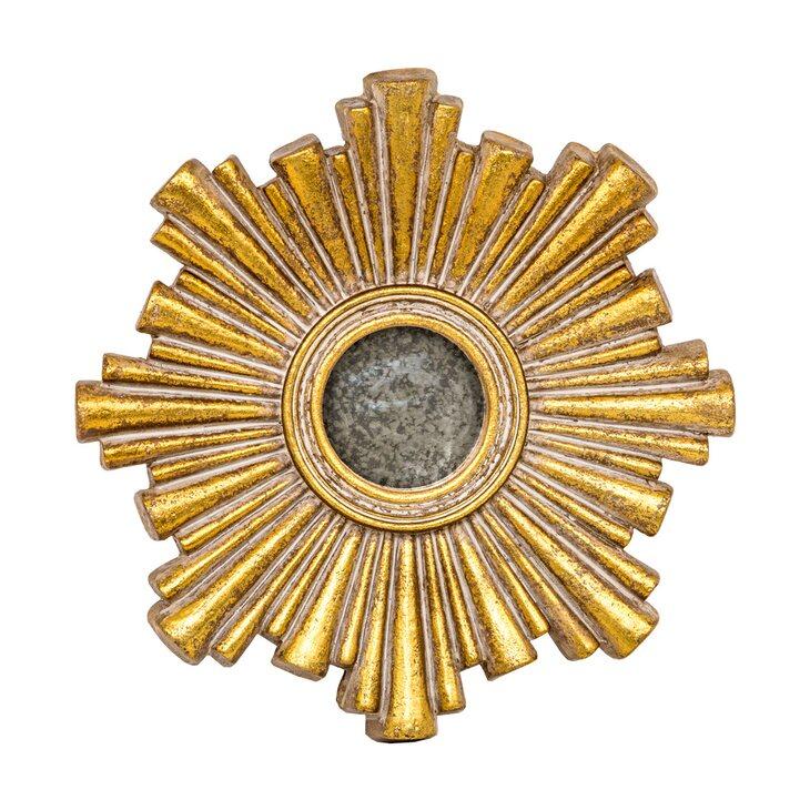Декоративное зеркальное украшение настенное «Олимп» | Настенные зеркала Kingsby