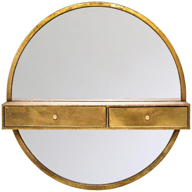 Настенное зеркало с полочками «Одиссея» | Настенные зеркала Kingsby