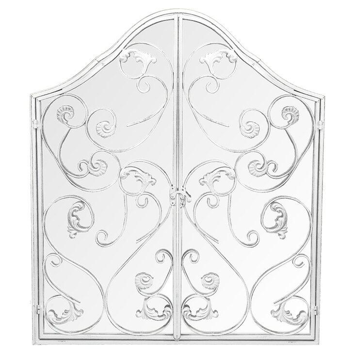 Настенное зеркало «Монтанер» (белый антик) | Настенные зеркала Kingsby