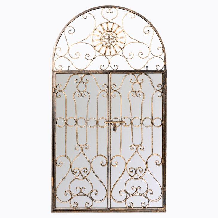 Настенное зеркало «Дивон» (королевская бронза) | Настенные зеркала Kingsby