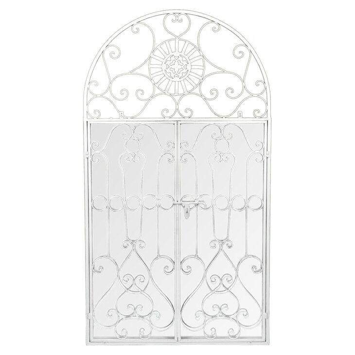 Настенное зеркало «Дивон» (белый антик) | Настенные зеркала Kingsby