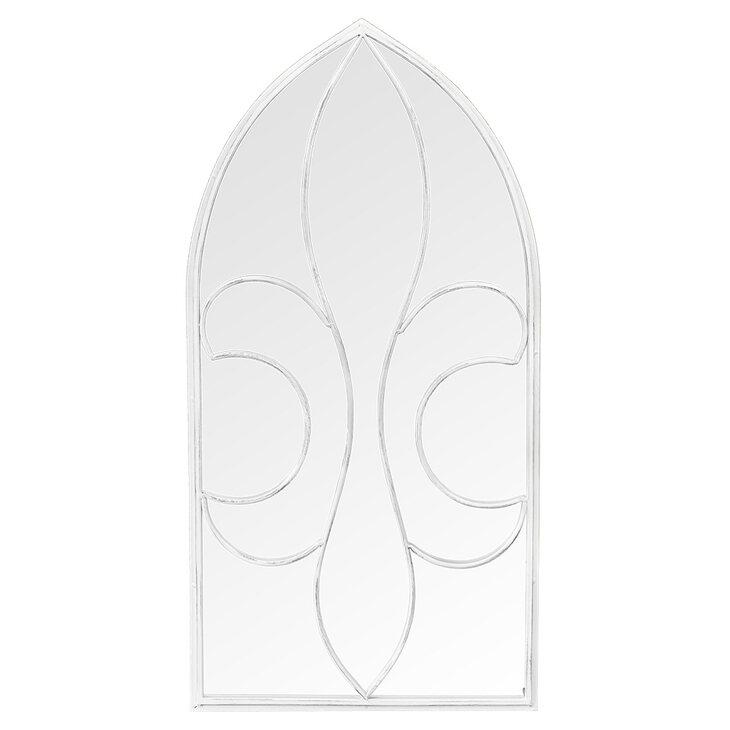 Настенное зеркало «Флореаль» (белый антик) | Настенные зеркала Kingsby