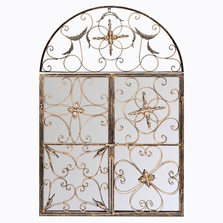 Настенное зеркало «Бизе» (королевская бронза) | Настенные зеркала Kingsby