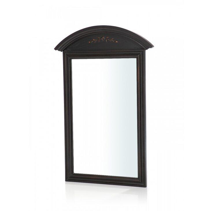 Прямоугольное зеркало настенное Leontina, черного цвета | Настенные зеркала Kingsby