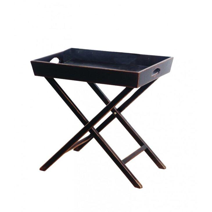 Раскладной столик Leontina, черного цвета   Кофейные столики Kingsby