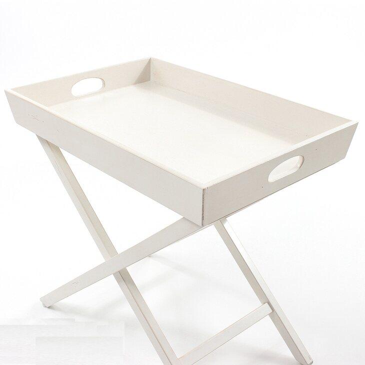 Раскладной столик Leontina, бежевого цвета   Кофейные столики Kingsby